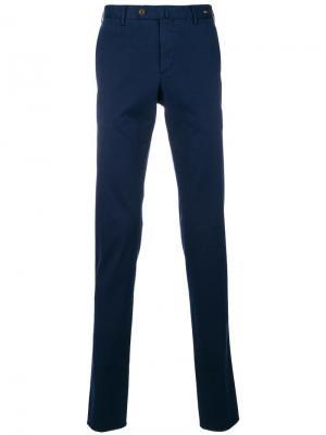 Брюки-чинос узкого кроя Pt01. Цвет: синий