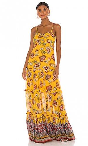 Платье lussa Alexis. Цвет: желтый