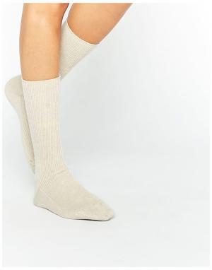 Кашемировые носки кремового цвета of Elgin Johnstons. Цвет: кремовый