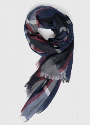 Текстильный шарф O`Stin. Цвет: темно-серый