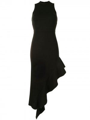Asymmetric-hem midi dress Alexis. Цвет: черный