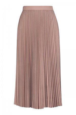 Плиссированная юбка с контрастной отделкой VASSA&Co. Цвет: розовый
