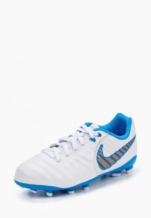 Бутсы Nike Kids Jr. Legend 7 Academy (FG) Firm-Ground Football Boot. Цвет: белый