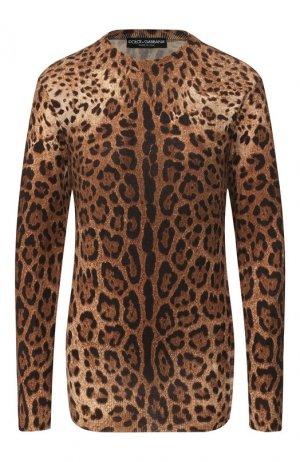Кашемировый пуловер Dolce & Gabbana. Цвет: коричневый