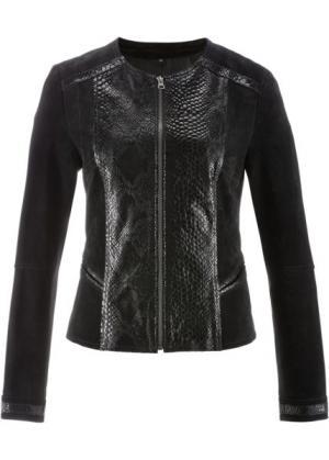Кожаная куртка ПРЕМИУМ (натуральный камень) bonprix. Цвет: натуральный камень