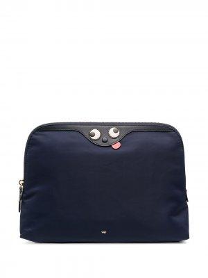Lotions & Potions clutch bag Anya Hindmarch. Цвет: синий
