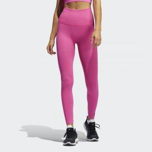 Леггинсы для фитнеса Formotion Sculpt Performance adidas. Цвет: розовый