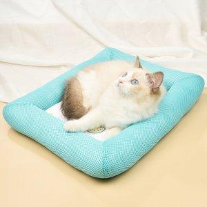 Кровать для домашних животных с принтом фруктов SHEIN. Цвет: многоцветный