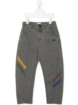 Прямые джинсы со вставками Bobo Choses. Цвет: серый