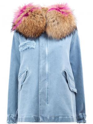 Джинсовая куртка на молнии Mr & Mrs Italy. Цвет: синий