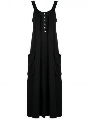 Платье макси с U-образным вырезом 8pm. Цвет: черный