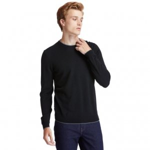 Свитера Contemporary Merino Crew Sweater (Regular) Timberland. Цвет: черный