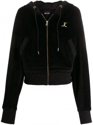 Куртка-бомбер с логотипом Just Cavalli. Цвет: черный