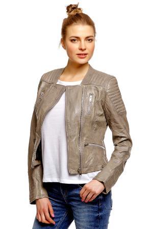 Кожаная куртка Denim 372188800711000 TOM TAILOR. Цвет: оригинальный
