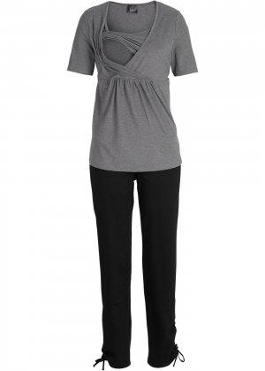 Футболка + брюки для будущих мам (2 изд.) bonprix. Цвет: серый