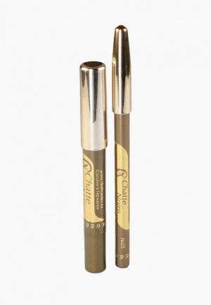 Набор для макияжа глаз Chatte Noire Карандаш + Карандаш-тени №61, 3,21. Цвет: хаки