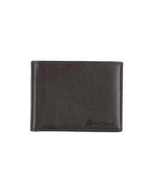 Бумажник SANTONI. Цвет: темно-коричневый