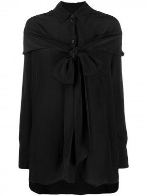 Декорированная рубашка-кейп Simone Rocha. Цвет: черный