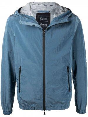 Куртка на молнии с капюшоном Herno. Цвет: синий