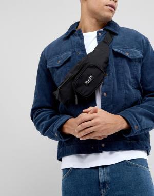 Черная сумка-кошелек на пояс Nicce London. Цвет: черный