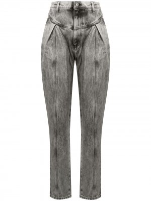 Зауженные джинсы с завышенной талией Chiara Ferragni. Цвет: черный