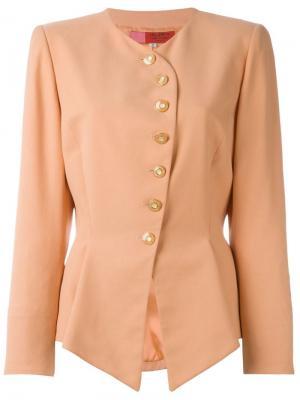 Асимметричная куртка Emanuel Ungaro Vintage. Цвет: розовый