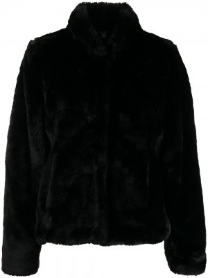 Шуба из искусственного меха Polo Ralph Lauren. Цвет: черный