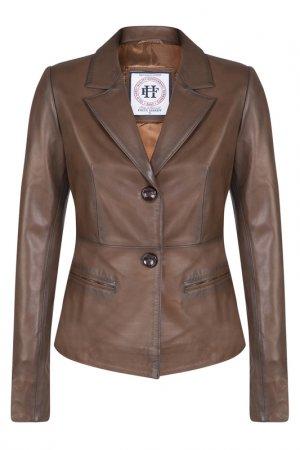 Кожаная куртка FELIX HARDY. Цвет: коричневый
