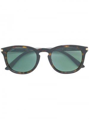 Солнцезащитные очки C de Cartier. Цвет: коричневый