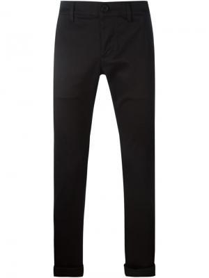 Классические брюки-чинос Saint Laurent. Цвет: чёрный