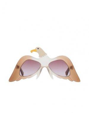 Солнечные очки STELLA McCARTNEY KIDS. Цвет: бежевый
