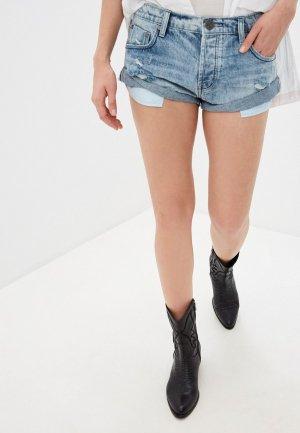 Шорты джинсовые One Teaspoon. Цвет: голубой