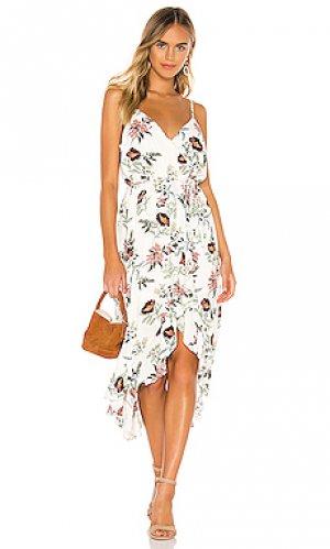 Платье garden bloom BB Dakota. Цвет: белый