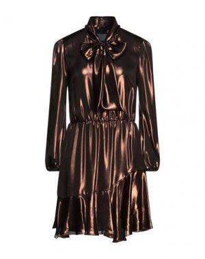 Короткое платье KI6? WHO ARE YOU?. Цвет: бронзовый