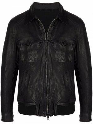 Куртка с эффектом потертости Salvatore Santoro. Цвет: черный
