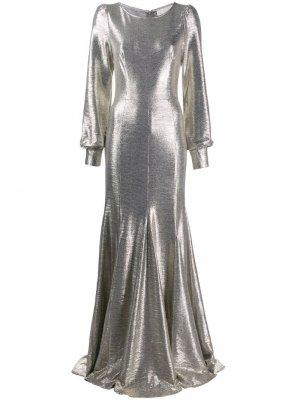 Длинное платье Illusion с эффектом металлик Goat