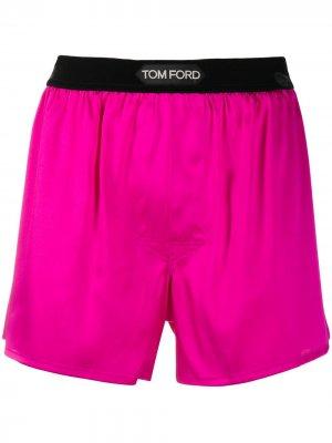 Боксеры с логотипом Tom Ford. Цвет: розовый