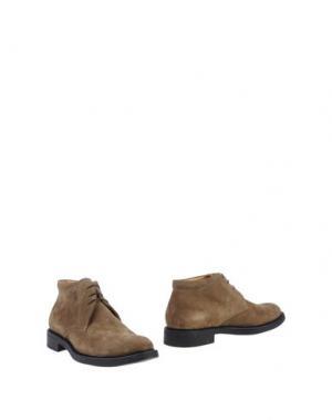 Полусапоги и высокие ботинки BASILE. Цвет: хаки