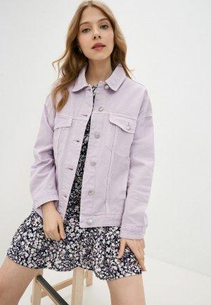 Куртка джинсовая Incity. Цвет: фиолетовый