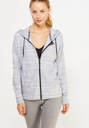 Толстовка Nike W NSW AV15 JKT KNT. Цвет: серый