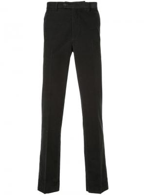 Классические брюки Gieves & Hawkes. Цвет: черный