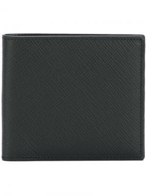 Классический бумажник Smythson. Цвет: черный