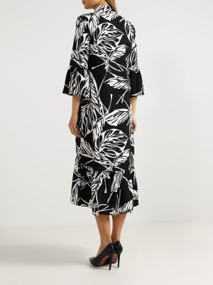 Платье-миди Alessandro Manzoni. Цвет: chernyy