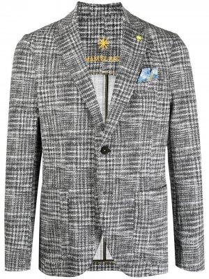 Однобортный пиджак из джерси Manuel Ritz. Цвет: черный