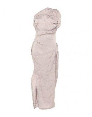 Длинное платье ANDREAS KRONTHALER x VIVIENNE WESTWOOD. Цвет: серый