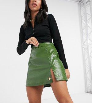 Зеленая мини-юбка с эффектом крокодиловой кожи -Зеленый цвет Fila