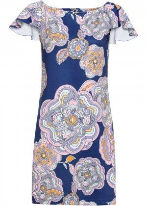 Платье летнее bonprix. Цвет: синий