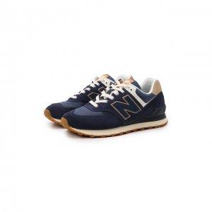 Комбинированные кроссовки 574 New Balance. Цвет: синий