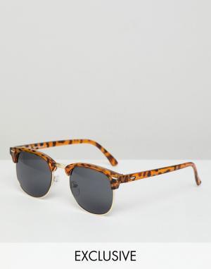 Солнцезащитные очки в черепаховой оправе стиле ретро inspired Reclaimed Vintage. Цвет: коричневый