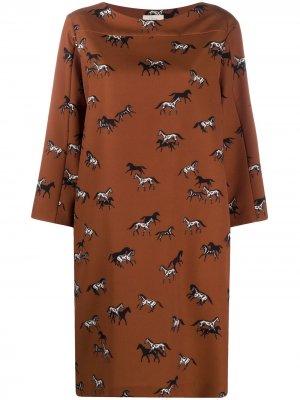 Платье миди с принтом Altea. Цвет: коричневый
